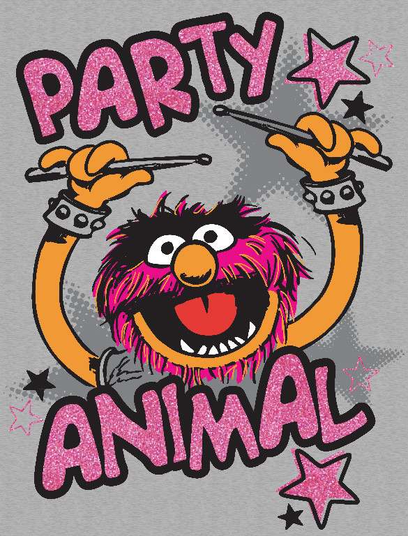 Richard Leeds International. Muppets. Party Animal Graphic.