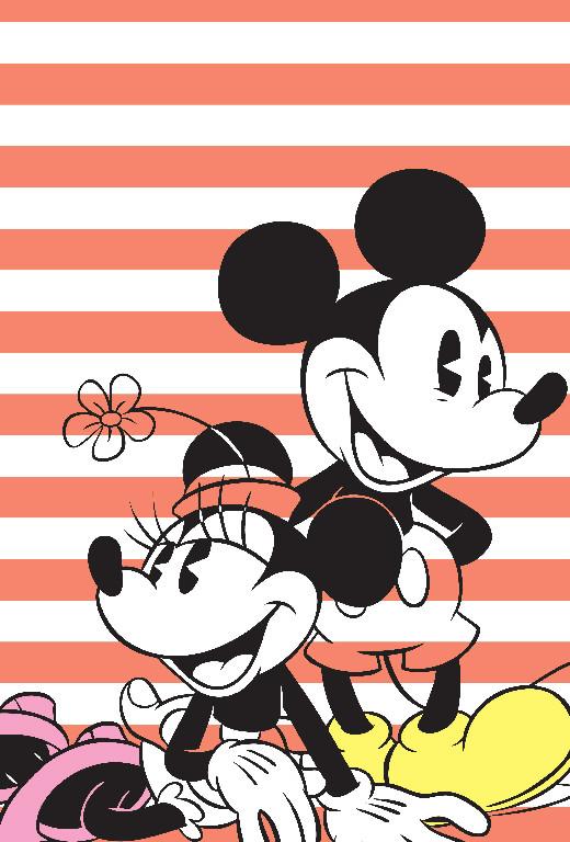 Richard Leeds International. Disney. Mickey and Minnie Stripe Graphic.
