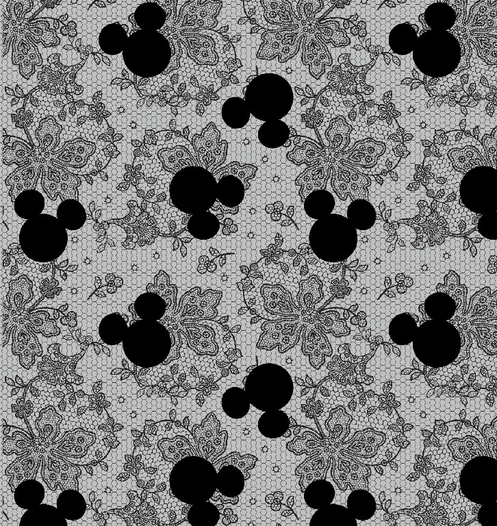 Richard Leeds International. Disney. Mickey and Lace Print.