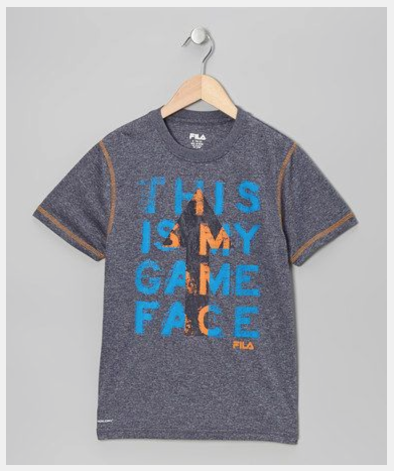 Fila. This is My Game Face Tee.