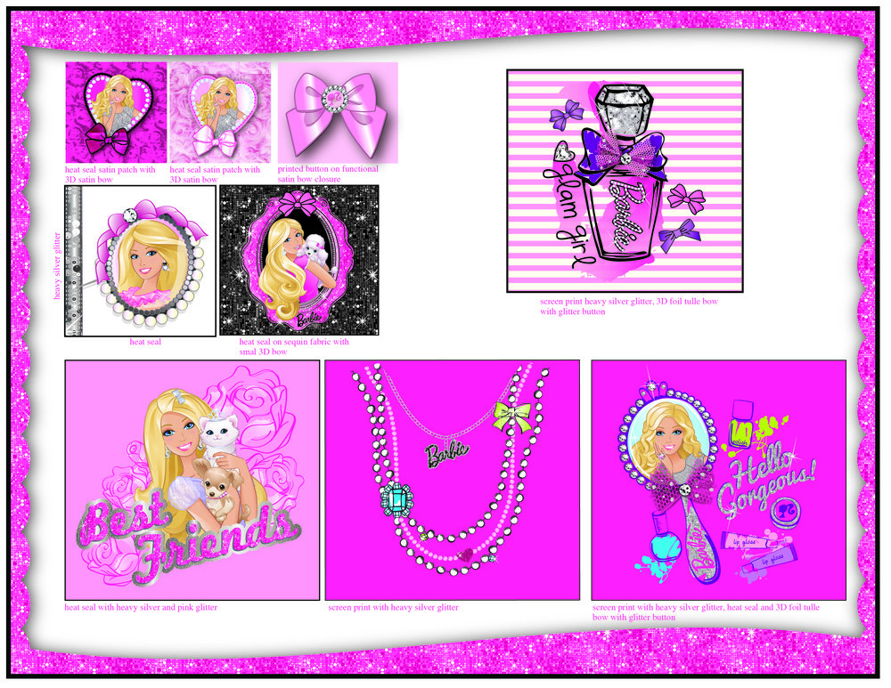 Bentex. Barbie. Bling Line Sheet Page 2.