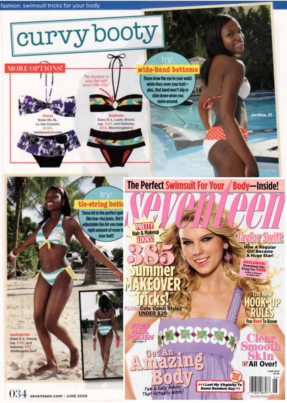 Seventeen Magazine. La Isla Purple Garden Print.