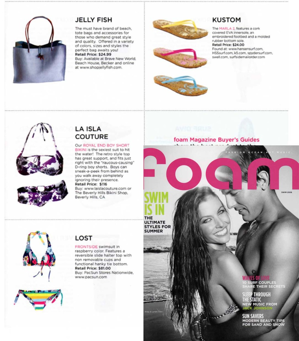 Foam Magazine. La Isla Purple Garden Print.