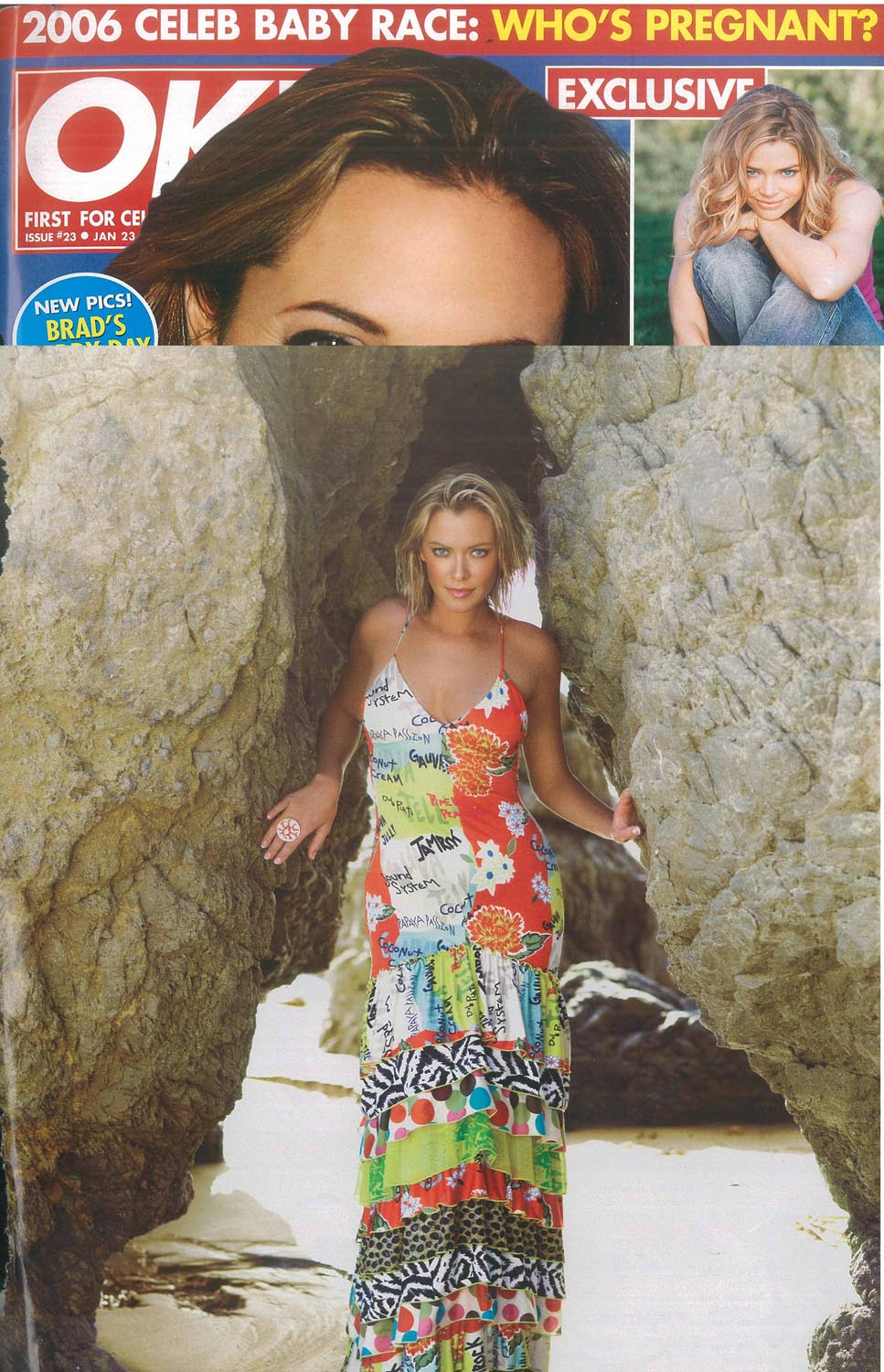 OK Magazine. Catch A Fire Clothing. Mixed Media Dress.