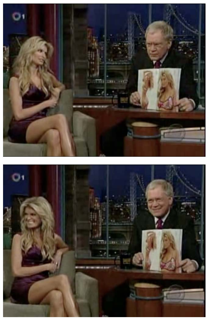Late Show with David Letterman. La Isla. New Floral Print Bikini.