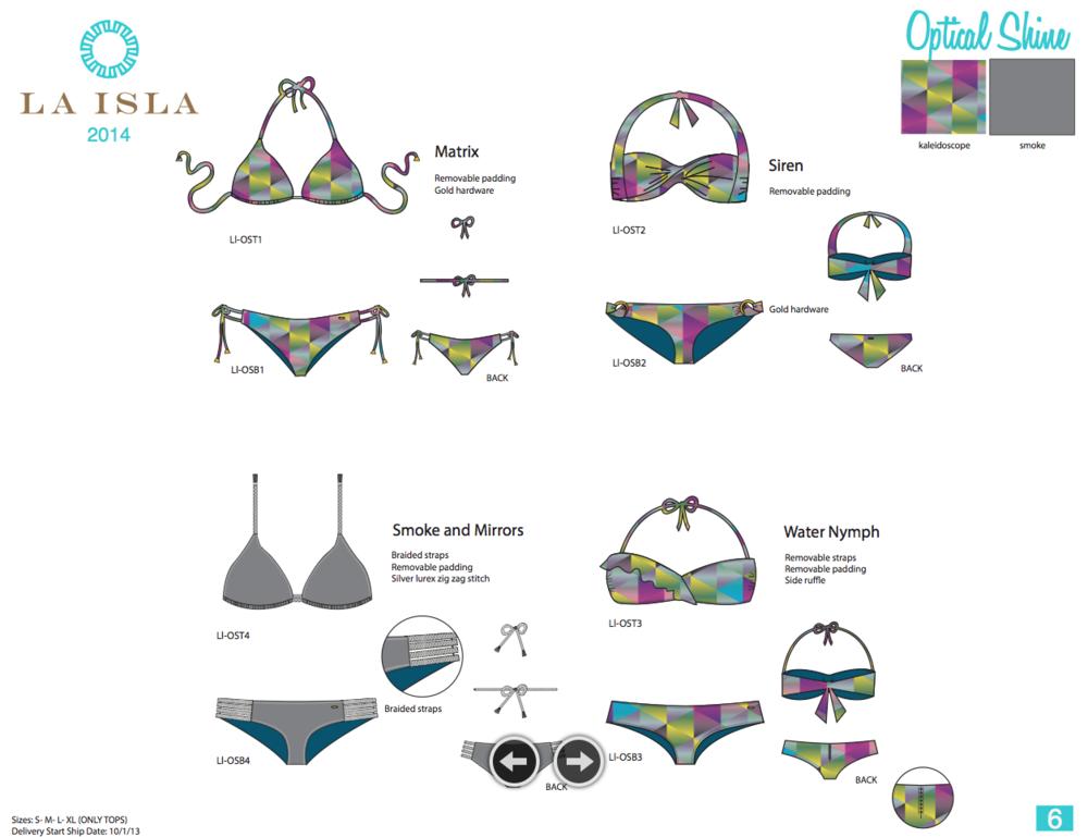 La Isla. Fashion Bodies & Line Sheet.