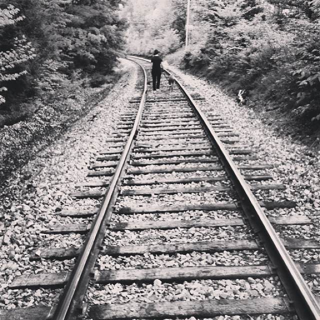 #vermont #emeraldlake #traintracks