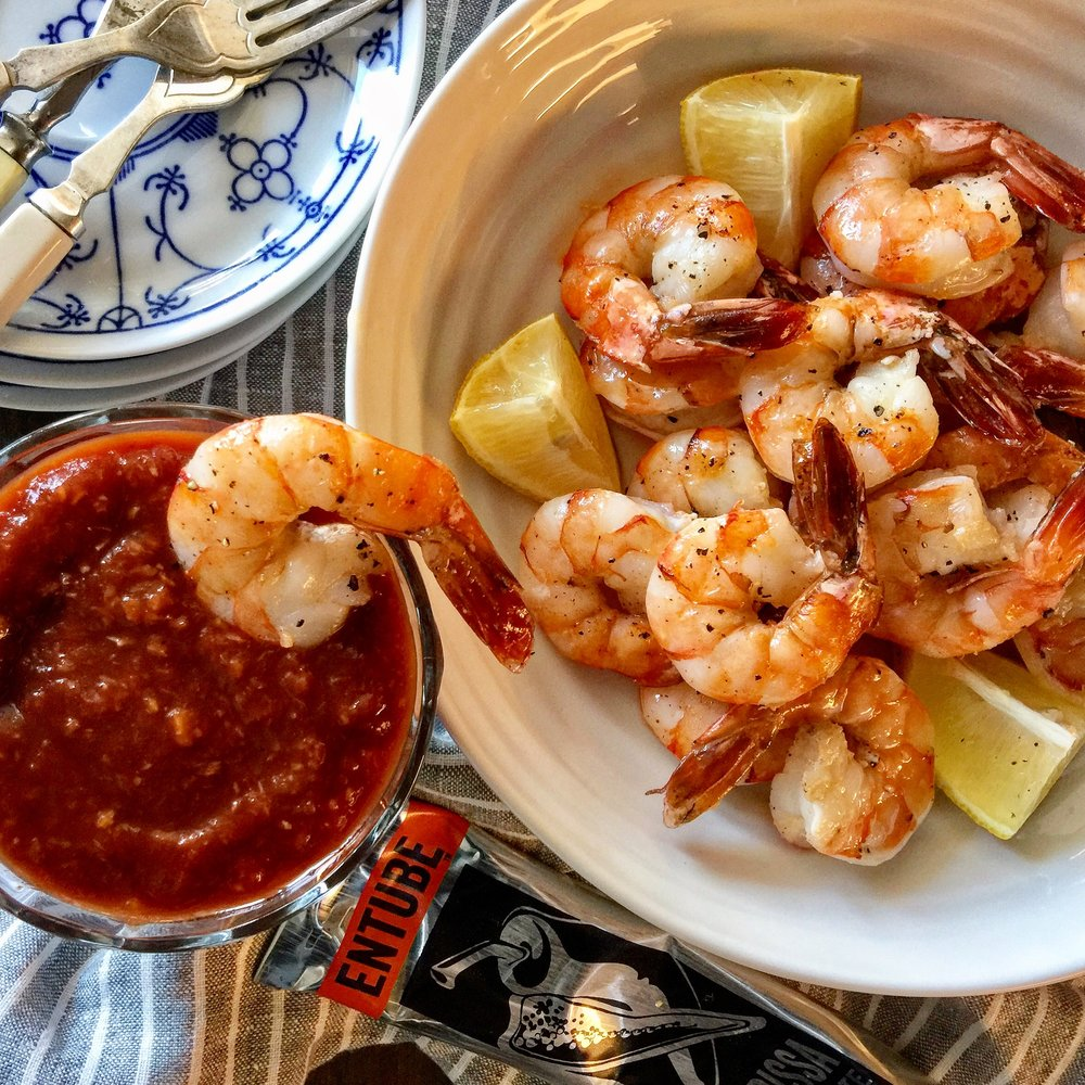 HARISSA SPIKED COCKTAIL SHRIMP