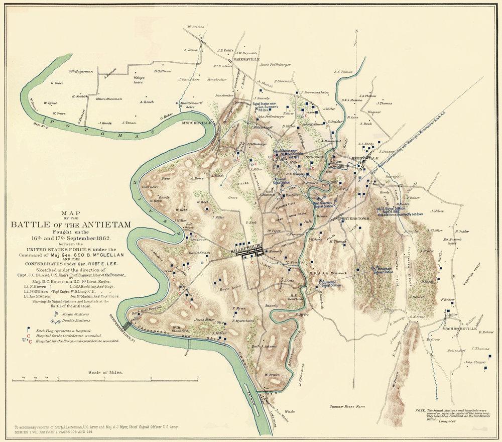 Antietam Digital Ethnography - Antietam on us map