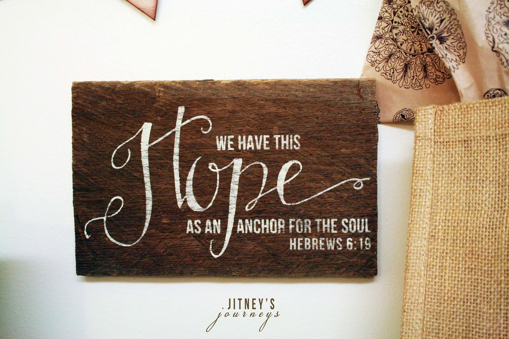 (1) Small Barnwood Hope Sign