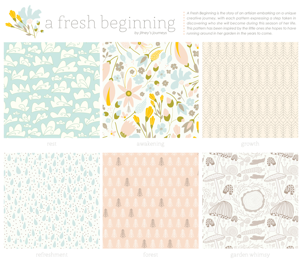 A Fresh Beginning Pattern Collection  via Jitney's Journeys