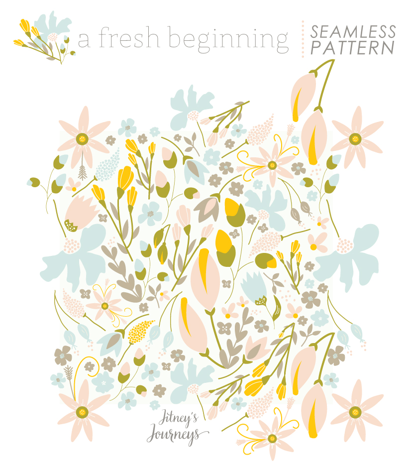 A Fresh Beginning Pattern Collection // Seamless Pattern via Jitney's Journeys