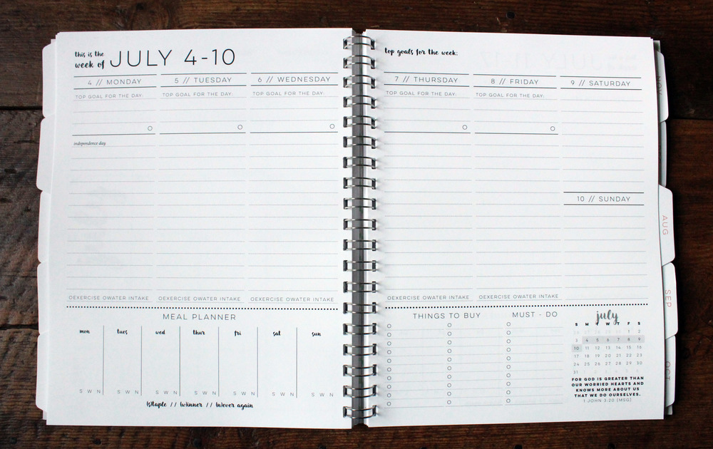 The Strategic Weekly Layout  Layout Of An Agenda