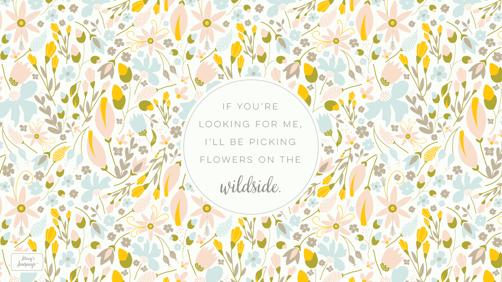Flowers on the Wildside // Desktop Background by Jitney's Journeys