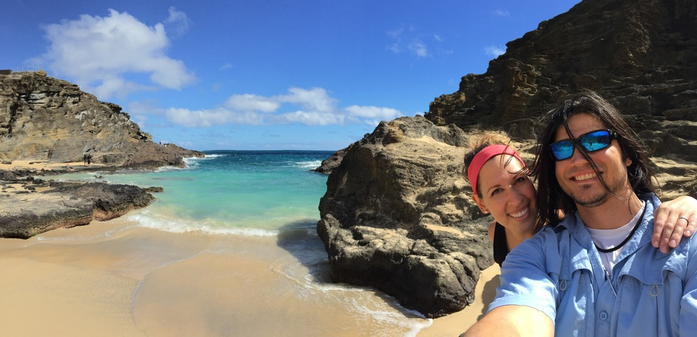 Halona Blowhole on Oahu, Hawaii // via Jitney's Journeys