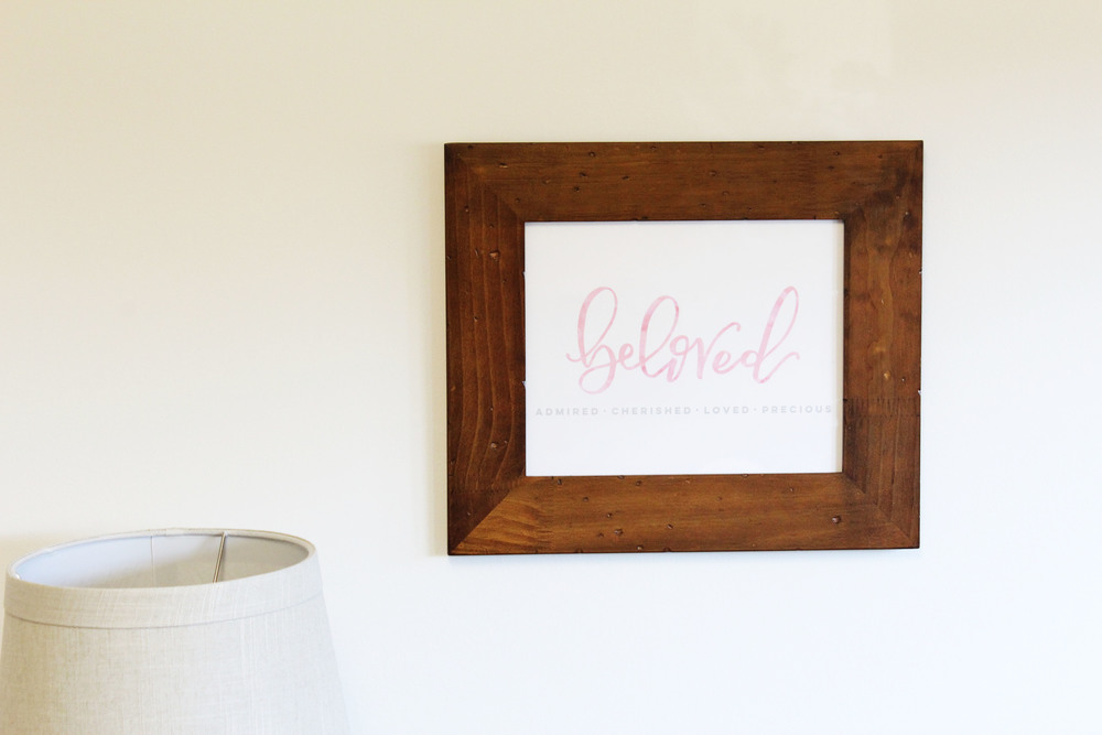 handlettered watercolor 'beloved' // via Jitney's Journeys