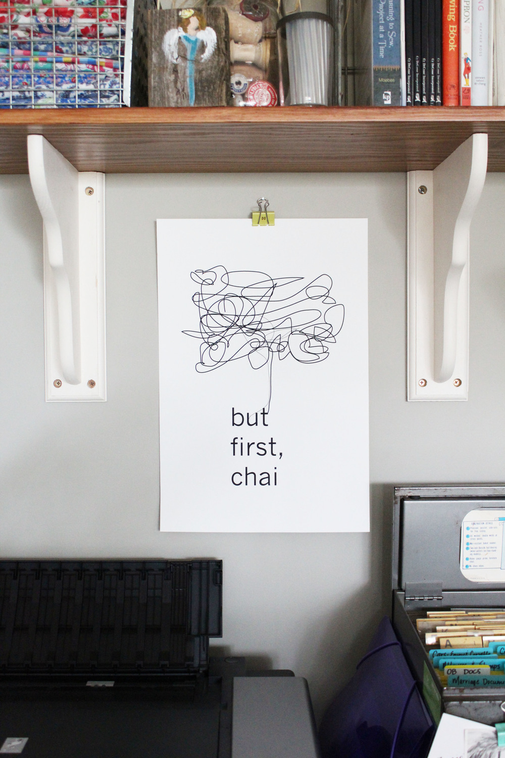 but first chai print from craft street design // via jitney's journeys