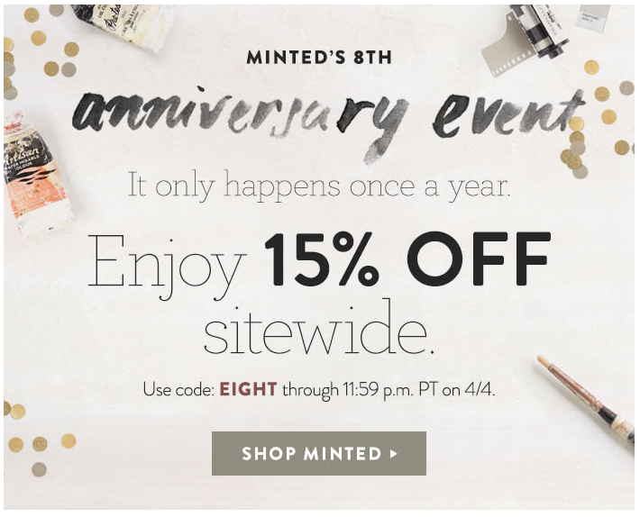 Minted Anniv Sale