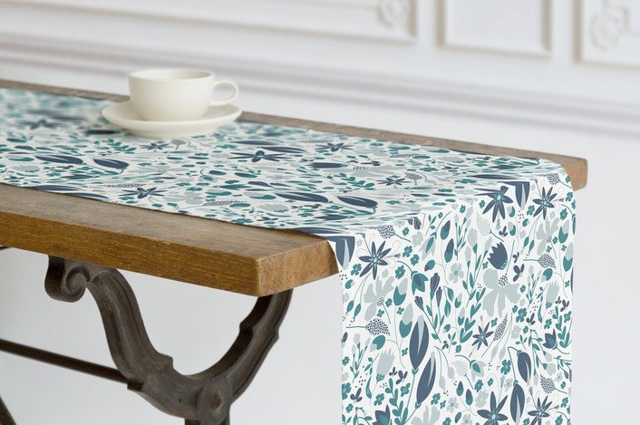 Home Decor Table Runner for Dining Room - Awakening Fabric at Minted - Designed by Whitney Todd