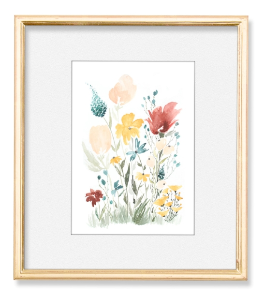 Deep Florals Art Print Framed.jpg