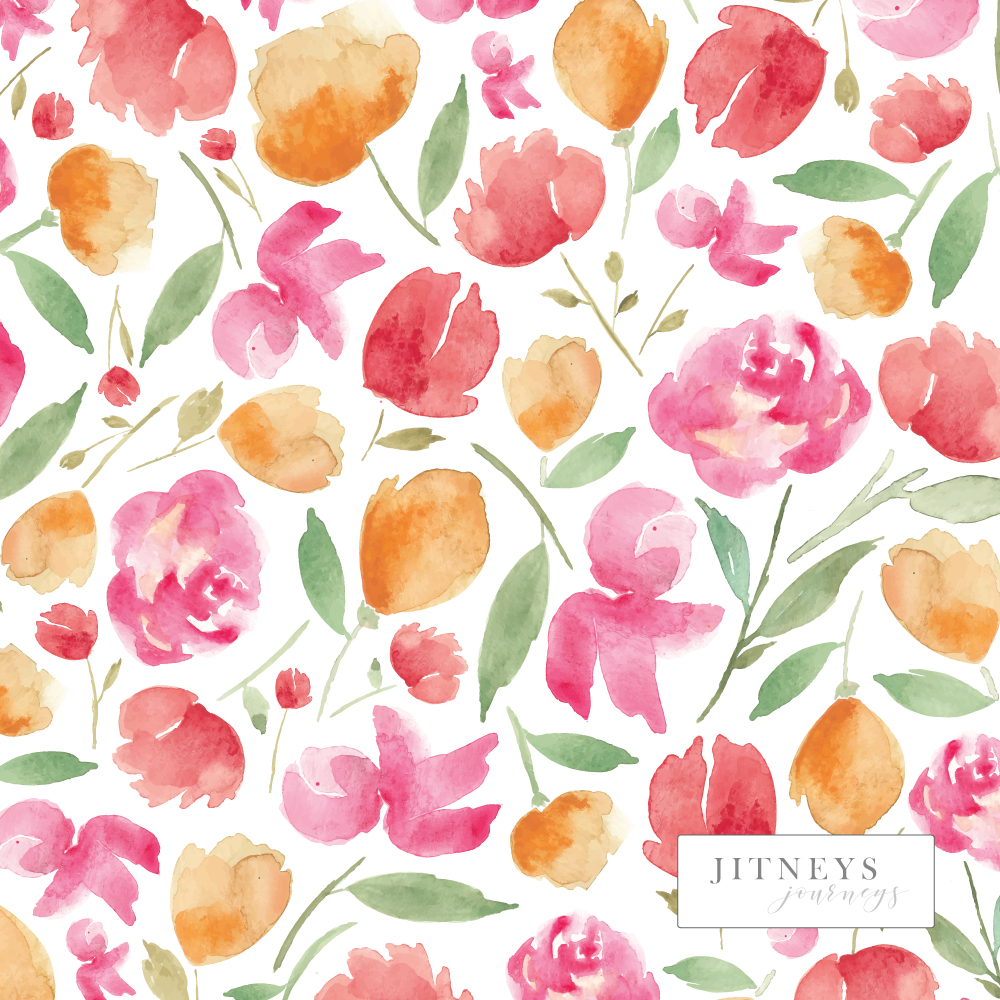 Japanese Blossoms Summer Floral Pattern by Whitney Todd via Jitneys