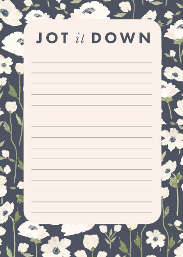 Jot it Down