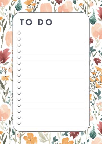 To Do: Deep Florals