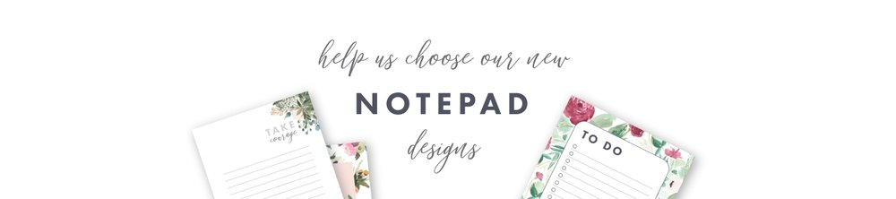 Vote on our new notepad collection designs by jitneys
