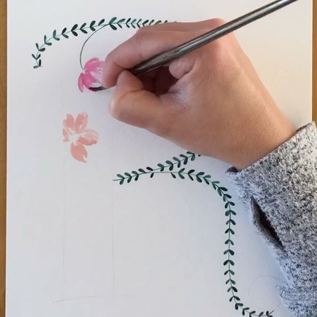 "Painting the base florals inside the spine of the ""R"" today! Watch the #workinprogress here and in our stories (along with some little lambs). 🤩 Happy Thursday, friends! . #dailyillustration #florals #watercolor #sakurakoiwatercolors #royalandlangnickel #flowersofinstagram #artistsofinstagram #illustration #illustratorsofinstagram #lettering #floralletters #travelingpainter #workinprogress #watercolorvideo"