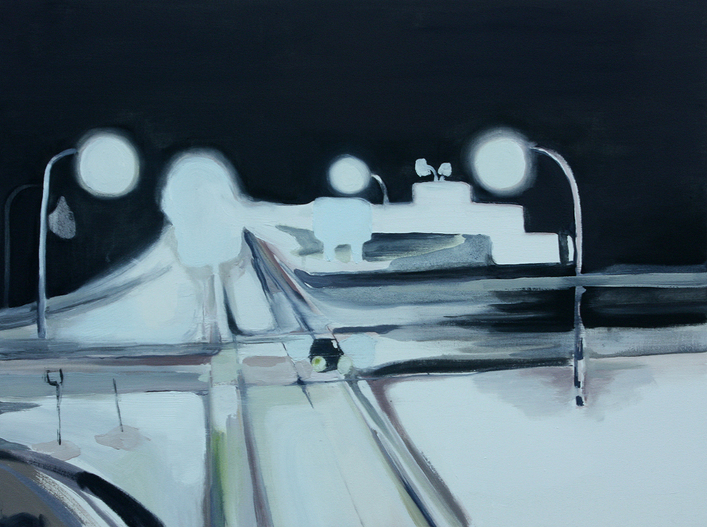 """watching the highway <br>24"""" x 20"""" <br> oil on canvas <br>"""