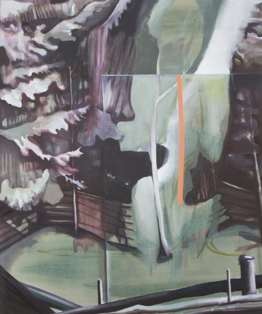 barricade <br> 4'x6' <br> oil on canvas