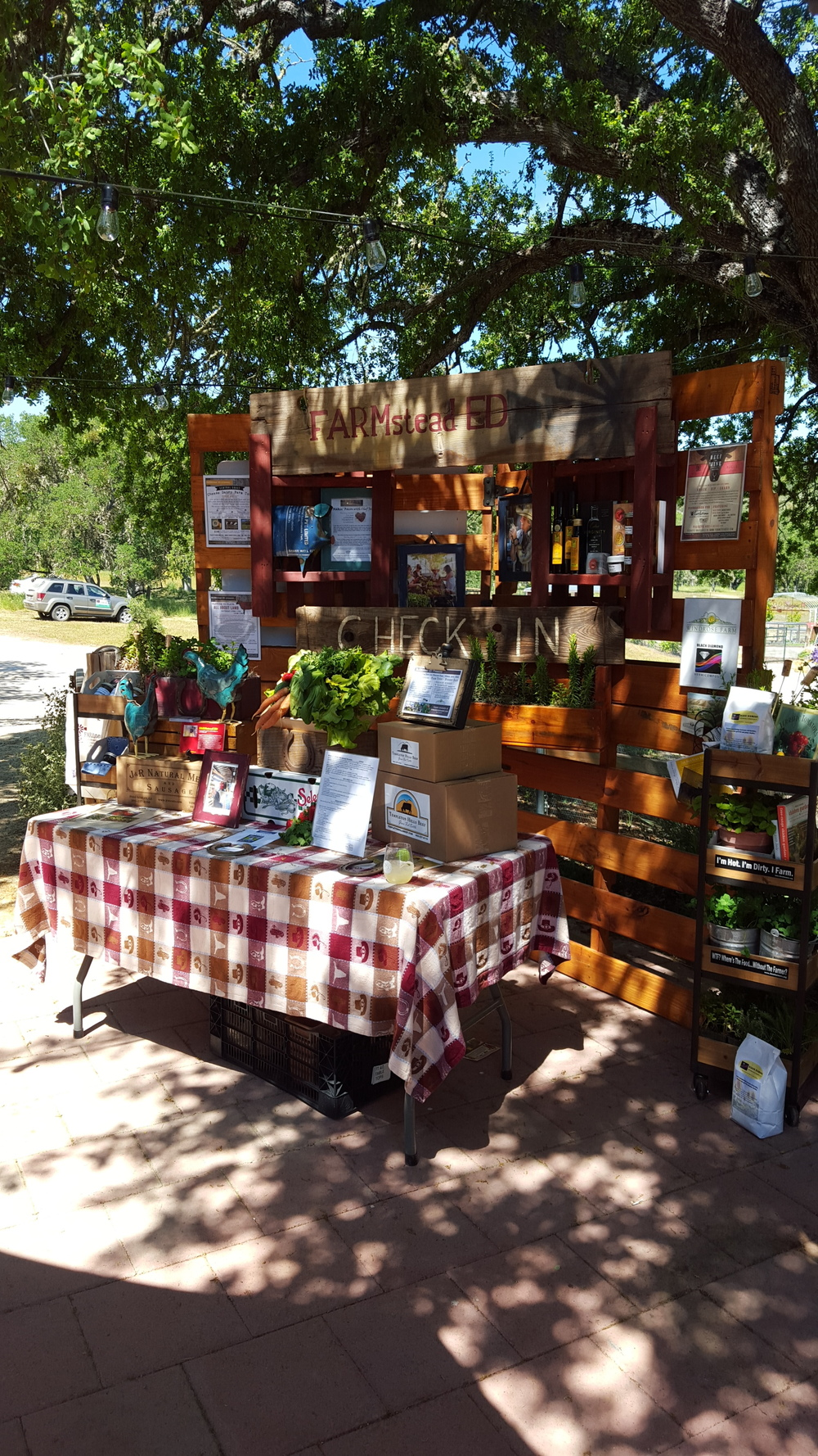 FARMstead ED's Welcome Booth