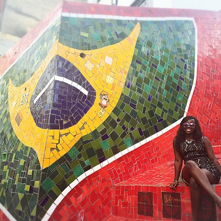 """Since Brazil still has the largest population of black citizens, subsequent to Nigeria, the culture in Brazil is largely due to their African heritage."" Read Diana's full story at www.explorealittle.com #explorealittle #conchhead"