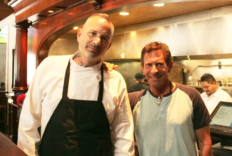 Co-owner Ron Goldin with Chef Colin Curtis Source:  Napa Valley Register (Weekly Calistogan)