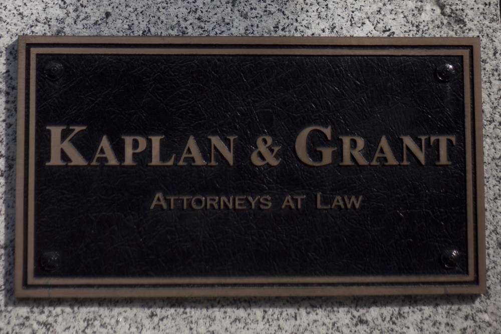 kaplan and grant plaque