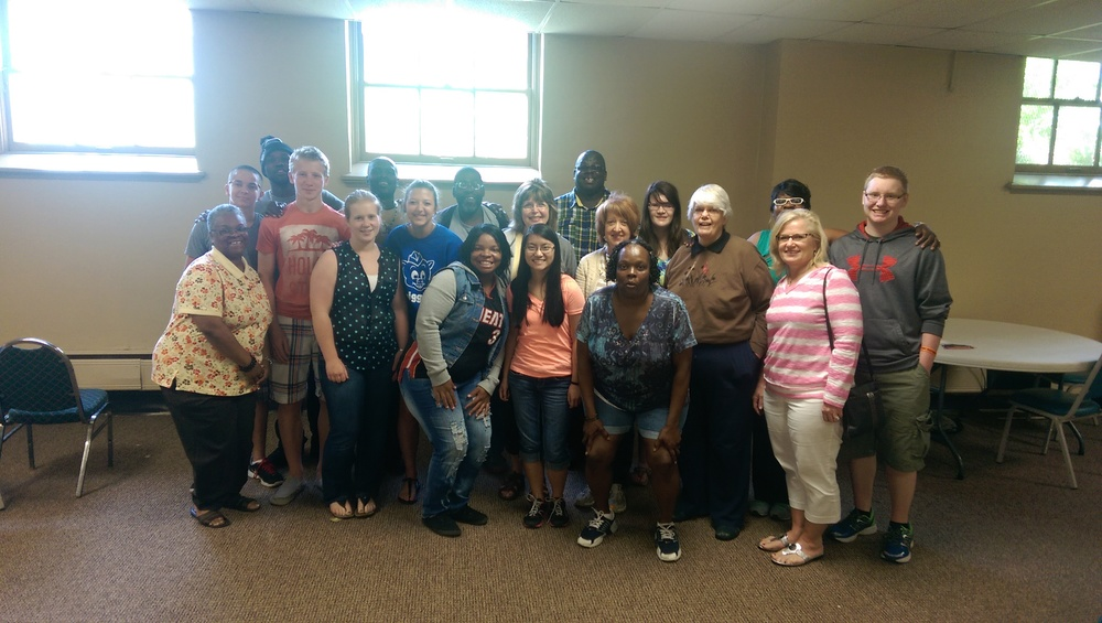 BLY CREW at Bible Study with our sister church of Reformation Lutheran in Milwaukee