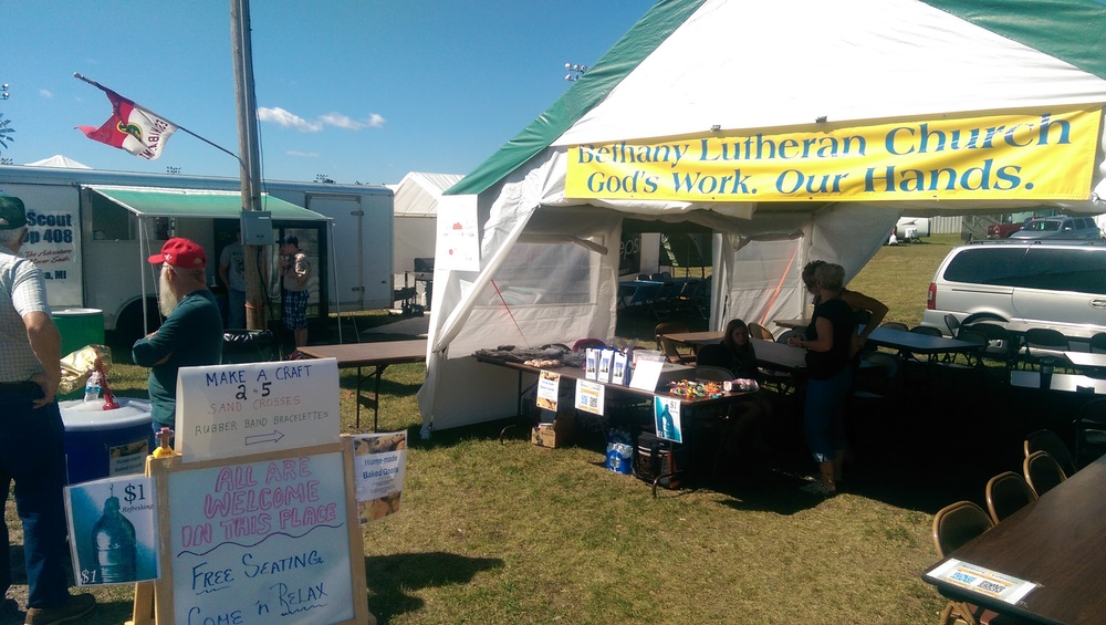 Bethany @ the U.P State Fair. Our Tent of Rest- ALLareWelcome.