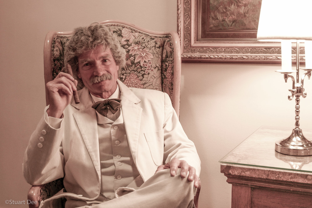 Mark Twain impersonator, Lake Tahoe, California, USA