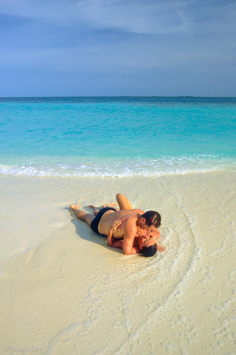 Couple at beach  R, Maldives