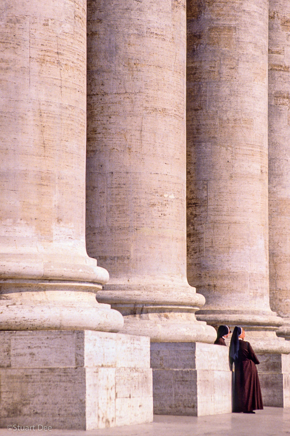 Nuns and Columns, St. Peter's , Rome, Italy