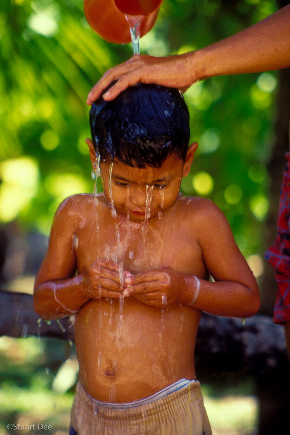 Boy Getting Bathed, Panglao Island, Bohol, Philippines