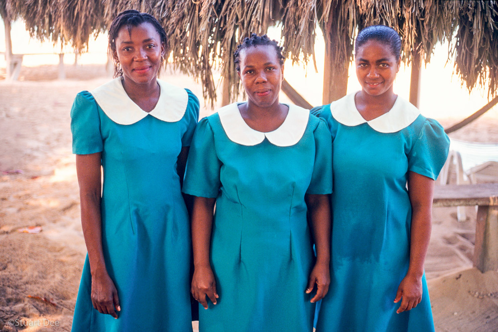 Three hotel maids, Negril, Jamaica