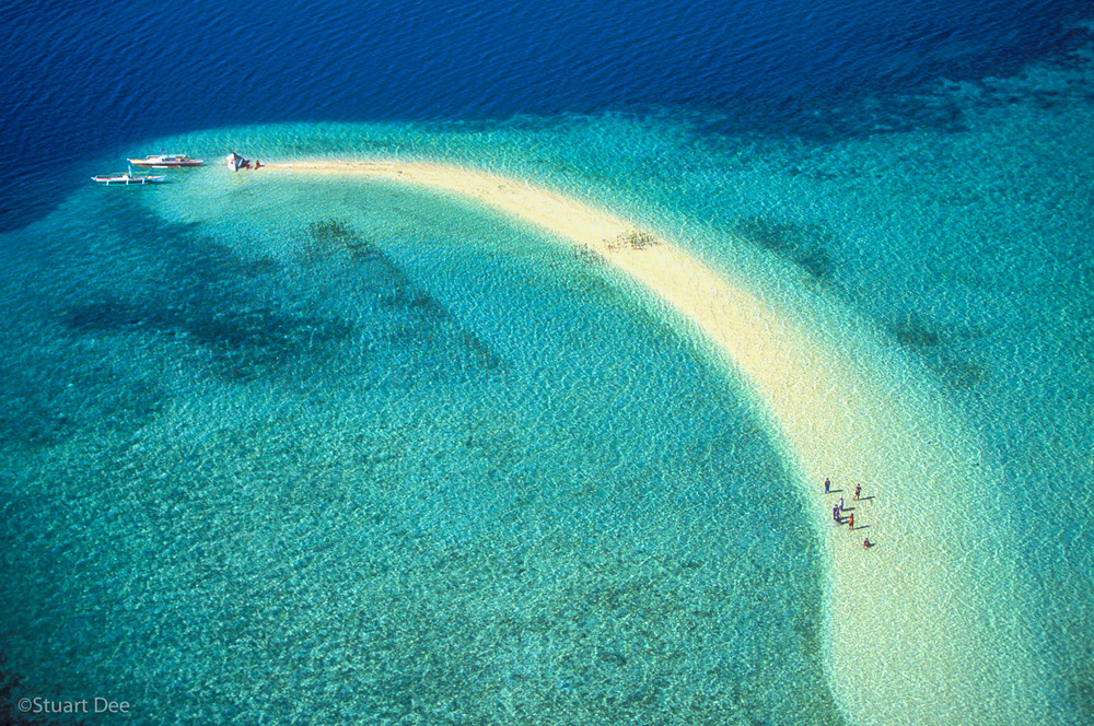 Outing On Sandbar, Macalingaw Island, Bohol, Philippines