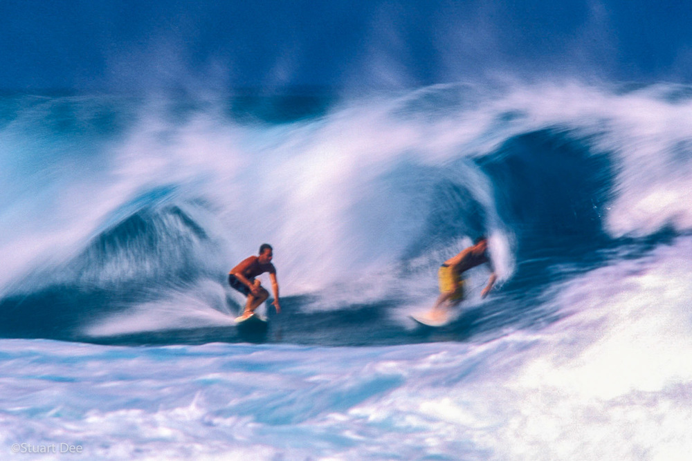 Surfing, Motion, Hawaii, USA