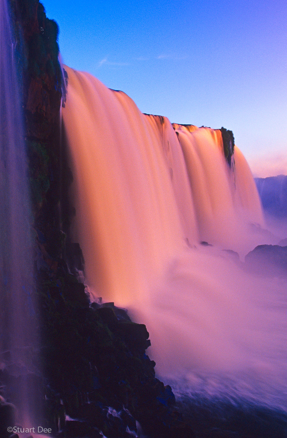 Iguazu Falls at sunset, Brazil