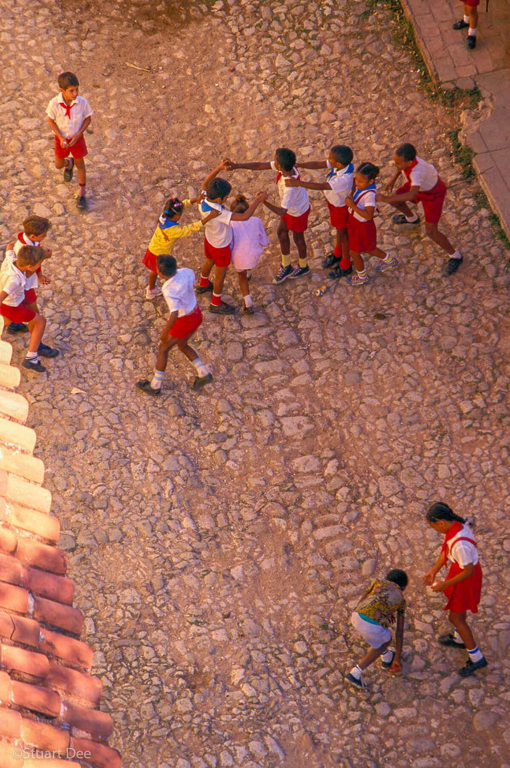 Schoolchildren, From Above, Trinidad, Cuba