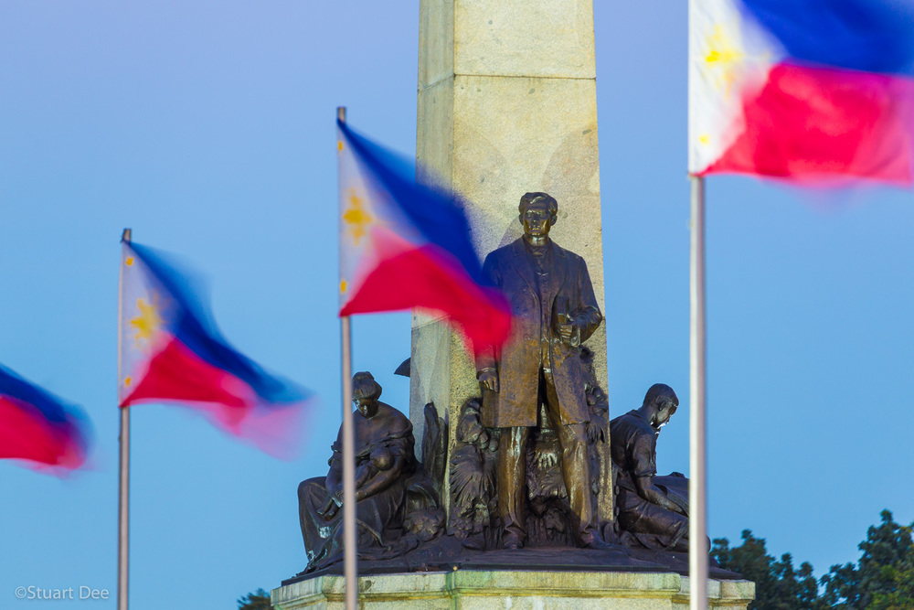 Rizal Monument, Rizal Park, Metro Manila, Philippines. Jose Rizal is the National Hero of the Philippines.