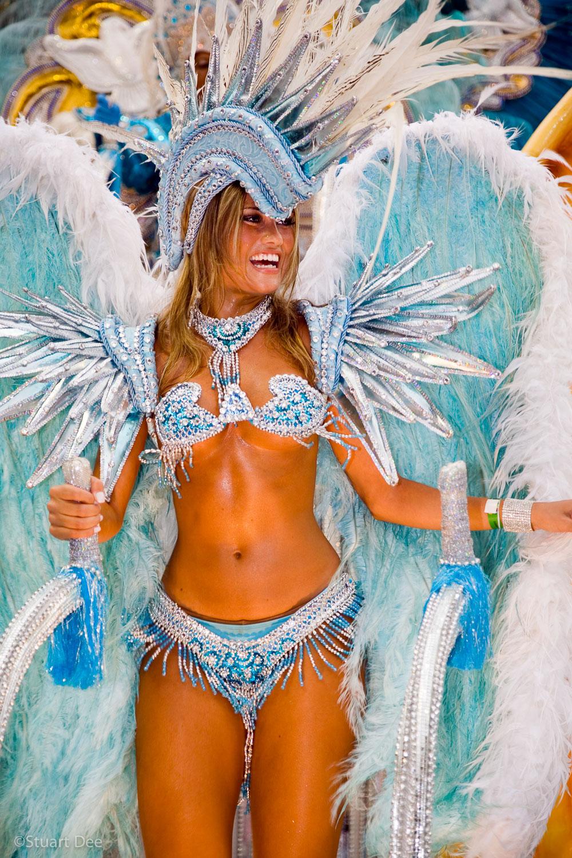 Woman in angel costume, Carnival Parade, Sambadrome, Rio de Janeiro, Brazil