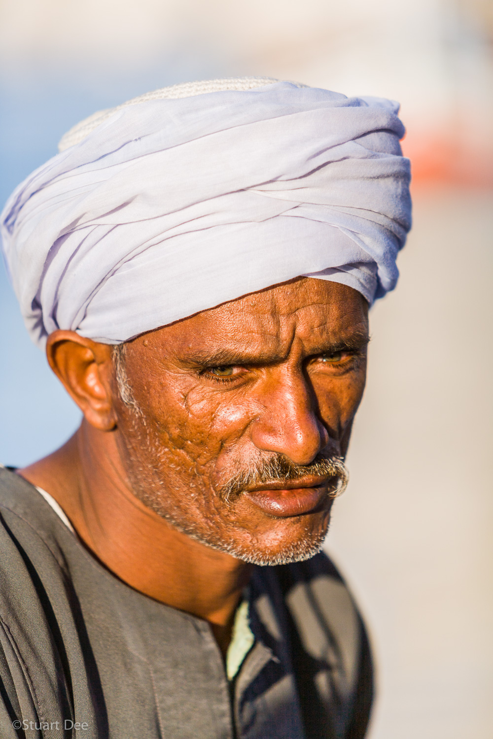 Portrait of boatman on a felucca, Nile River, Egypt