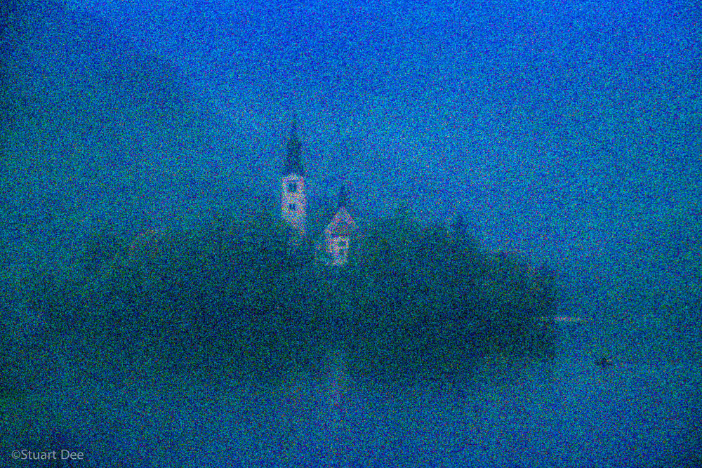 St. Mary's Church, Bled Island (Blenjski Otok), Lake Bled, Bled, Slovenia, in fog and mist
